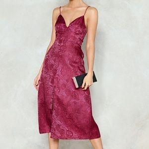 Nasty Gal Raspberry Midi Dress